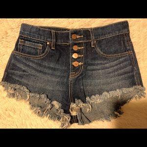Bullhead   High-Rise Denim Shorts